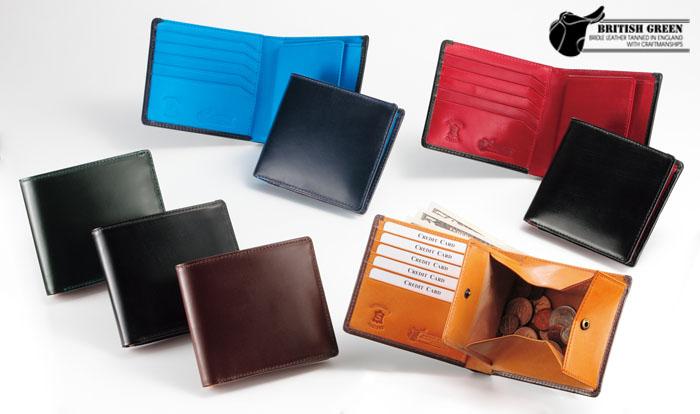 ダブルブライドルレザー二つ折り財布