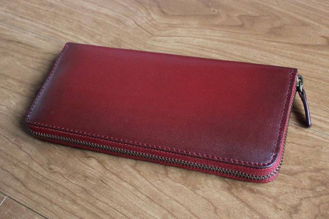 (ラファエロ) Raffaello 一流の革職人が作る ネビア製法で仕上げたメンズラウンドファスナー長財布