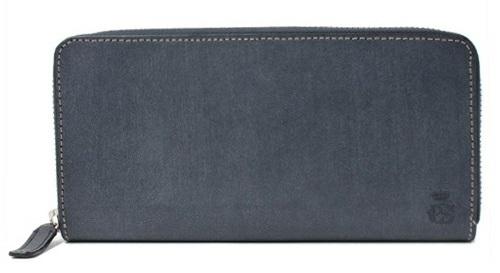 グレーの長財布