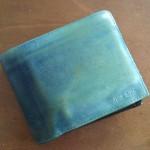 ポールスミス二つ折り財布ブルー