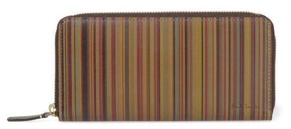 ポールスミスストライプ柄長財布