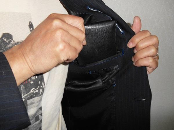 上着のポケット