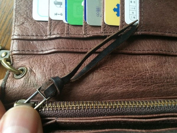 アヴィレックス長財布の劣化