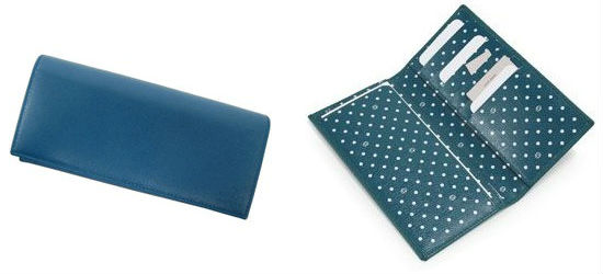 GUCCI(グッチ)ポルカドットプリントインナーの長財布