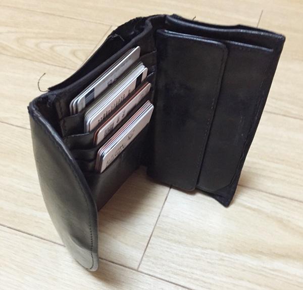 ホワイトハウスコックス三つ折財布内装