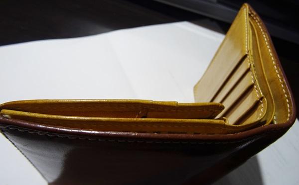 厚みのある財布