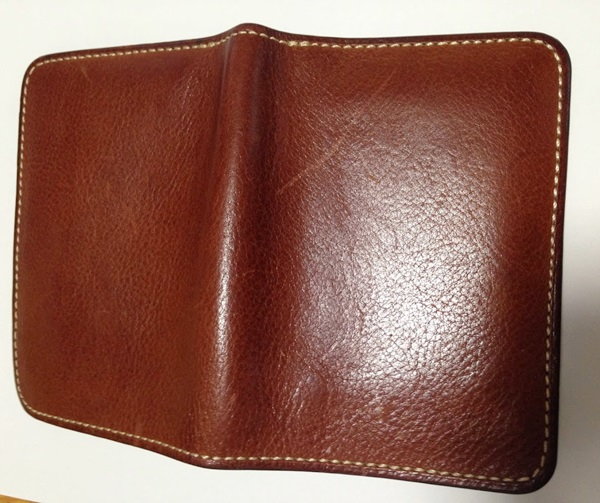 土屋鞄の財布のエイジング