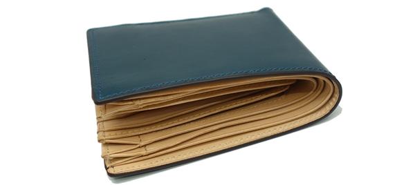 P.I.Dブライドルレザー二つ折り財布
