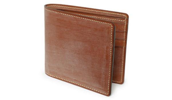 ガンゾ二つ折りブライドルレザー財布