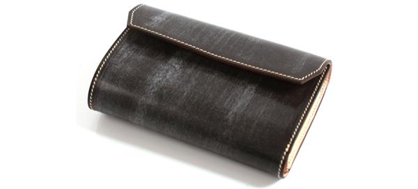 万双ブライドルレザー三つ折り財布