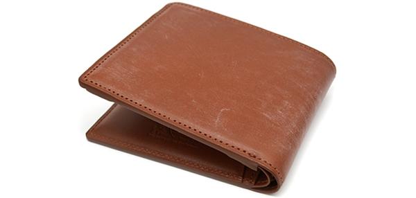 ル・プレリーのブライドルレザー二つ折り財布