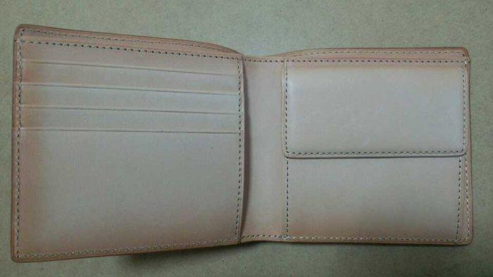 無印良品で購入した二つ折り財布