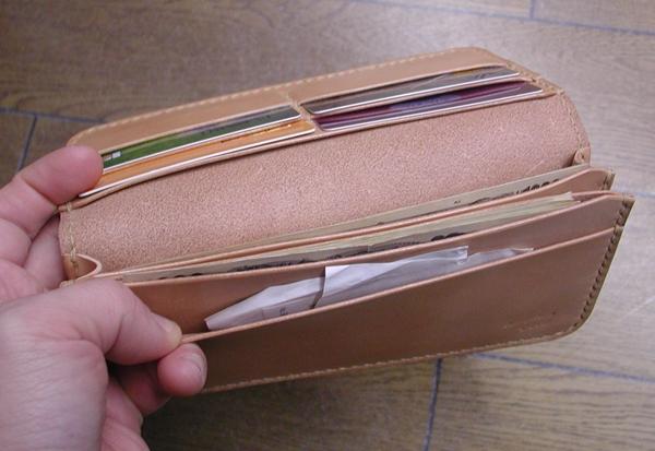 小銭入れがないowl革工房の長財布