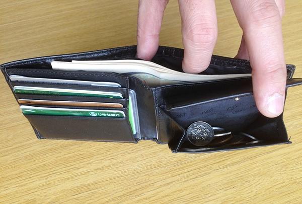 カルバンクラインの2つ折り財布の使い心地