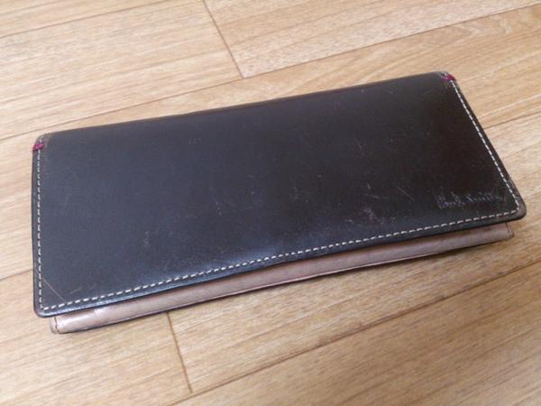 ポールスミスの二つ折り長財布