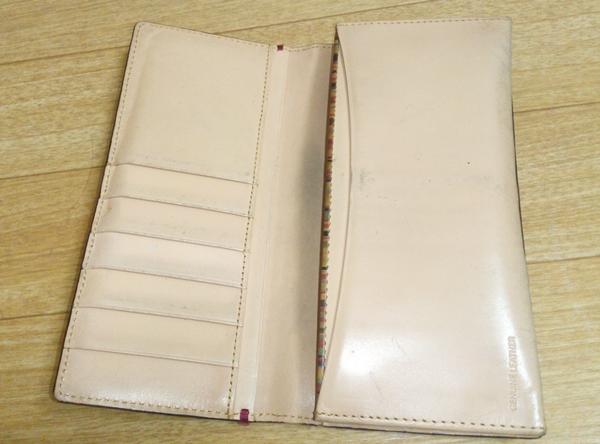 ポールスミス長財布の内装
