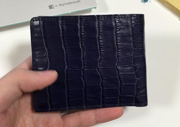 ユナイテッドアローズクロコ型押し革財布