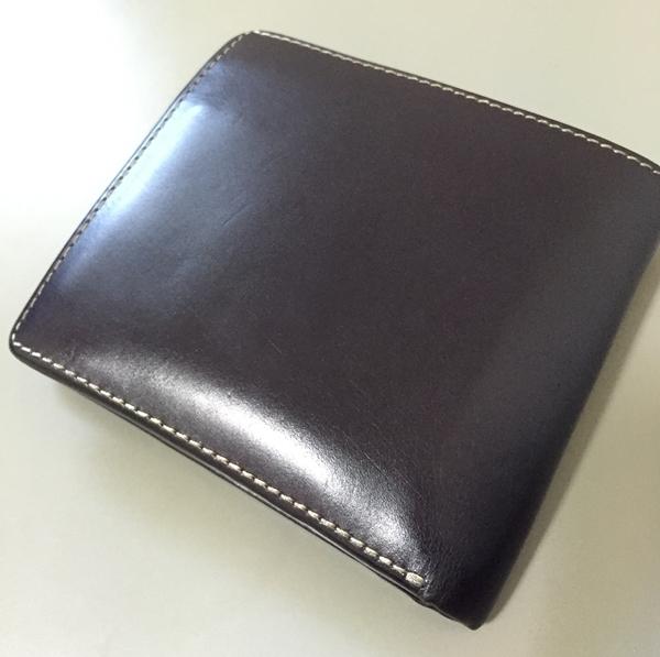ホワイトハウスコックスメンズ二つ折り財布S7532ネイビー