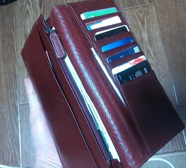 収納が多いバーバリー ブラックレーベル長財布