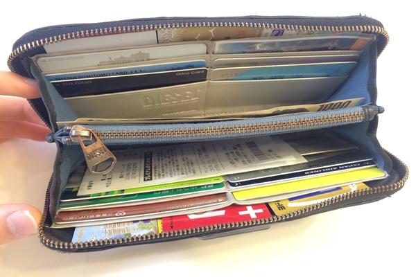 収納スペースが多いディーゼル長財布