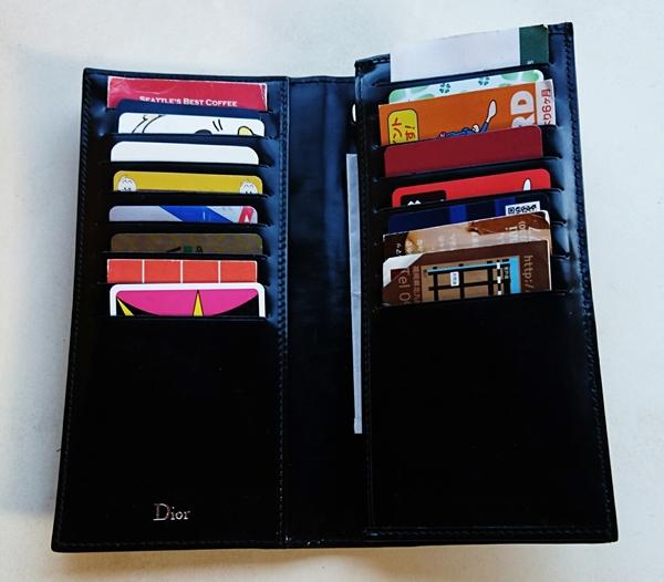 理想のカードポケットがあるディオールオムの長財布