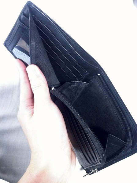 ポケットが多いカンサイジーンズの財布