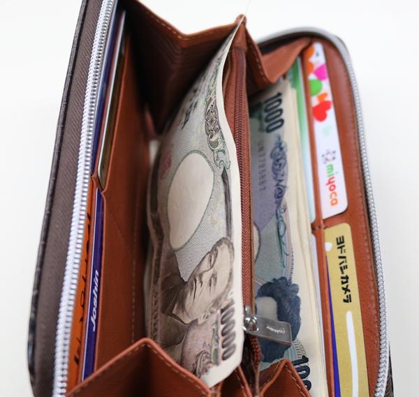 お札にシワが付くオロビアンコの財布