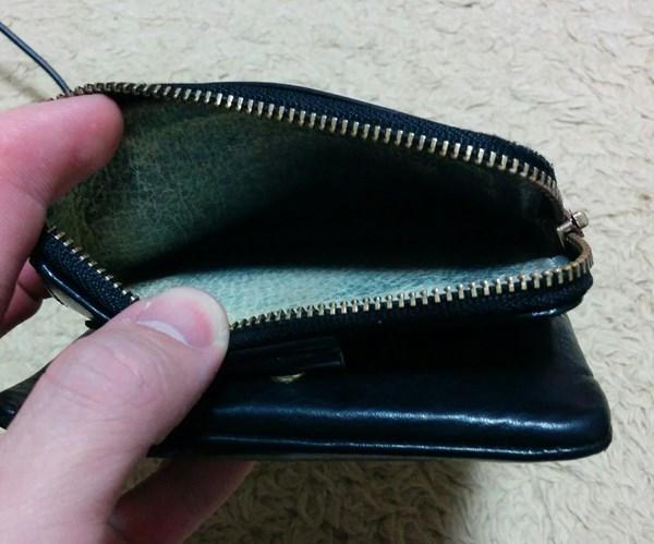 小銭入れが広いポーターの二つ折り財布
