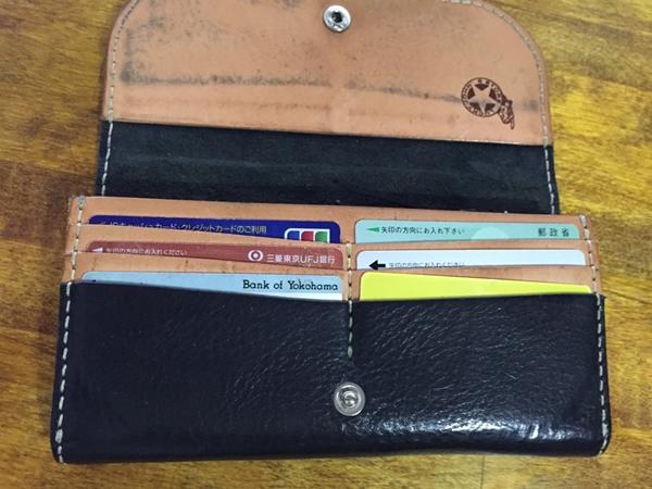 ラッキージョン長財布の収納力