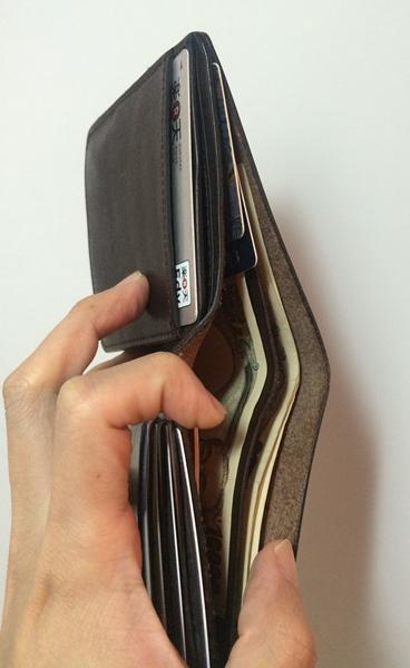 スロウのフルレザー二つ折り財布