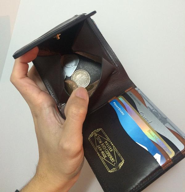 小銭が出しやすいスロウの財布