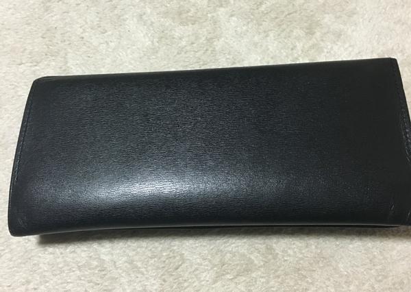 アクアスキュータムの長財布の裏側