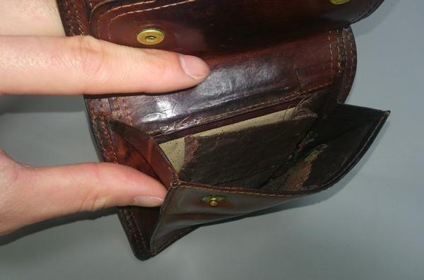 コルボ二つ折り財布の小銭入れ部分