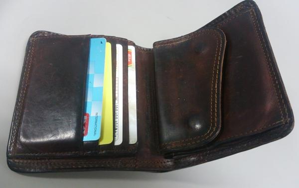 コルボ二つ折り財布の収納