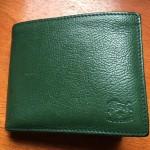 緑のイルビゾンテ二つ折り財布