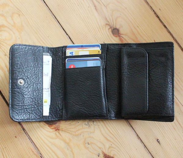 無印良品の三つ折り皮財布内装