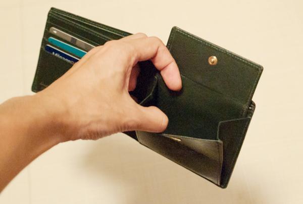小銭入れも、それ一つで実用に十分な大きさ
