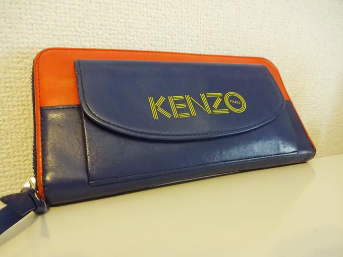 ツートーンレザーが一際目を惹く「KENZO長財布」