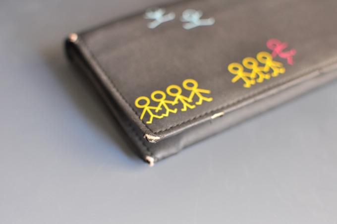 財布の四隅がボロボロ