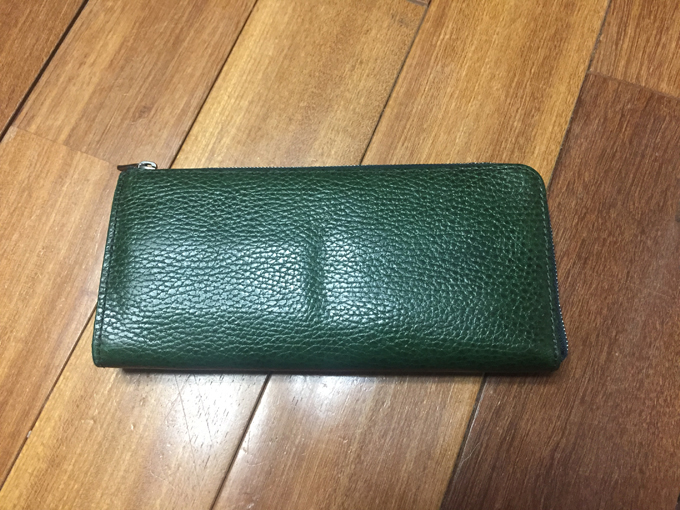 緑色のCircus of Happiness(サーカスオブハピネス)長財布
