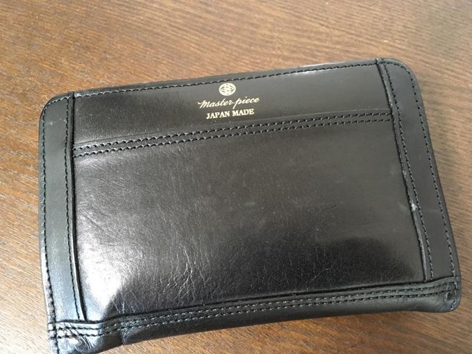 master-piece(マスターピース)FLATの二つ折り革財布