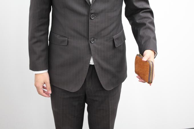 『SLOW』のプエブロレザー2つ折り財布